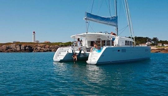 Charter 46' Mon Diamant Lagoon Cruising Catamaran At Sint Maarten, Caribbean Islands