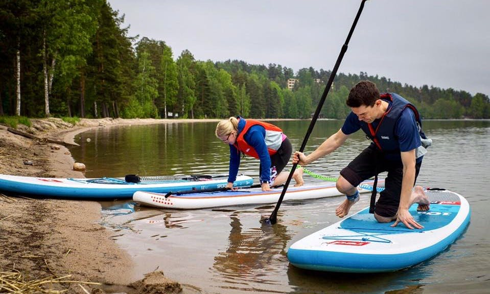 Enjoy Stand Up Paddleboard in Asikkala, Finland