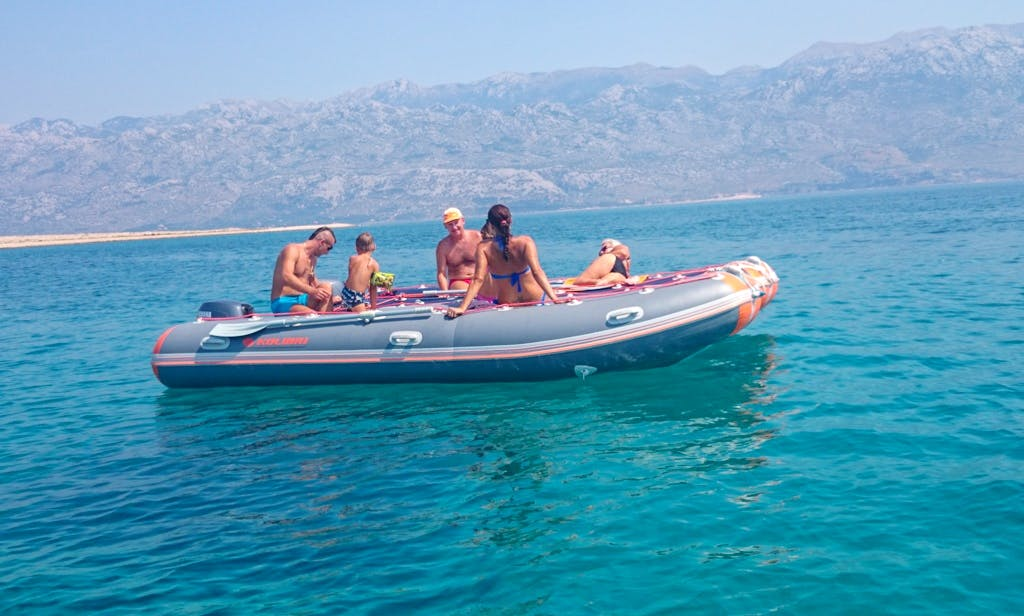 Rent 15' Kolibri Rigid Inflatable Boat in Ražanac, Croatia