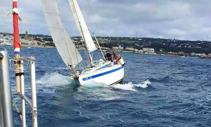 """Captained Charter on """"Buenaventura"""" Zuanelli 34 Sailing Yacht in Leuca"""
