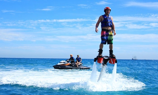 Enjoy Flyboarding In Ouistreham, Normandie, France