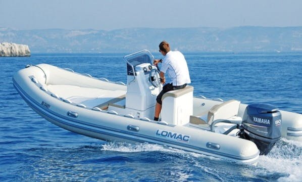 Rent 19' Lomac Rigid Inflatable Boat in Dinard, France