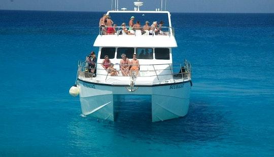 Charter 60' Scubacat Power Catamaran In Ayia Napa, Cyprus