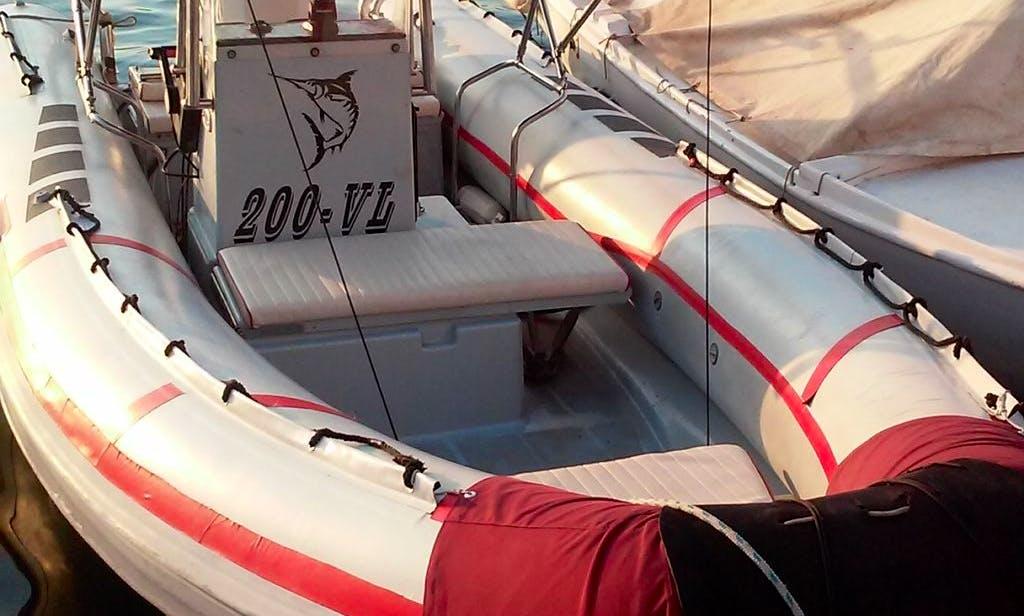 Rent 20' Joker Rigid Inflatable Boat in Vela Luka, Croatia