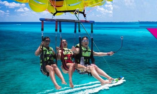 Enjoy Triple Parasail Rides In Ayia Napa, Ammochostos