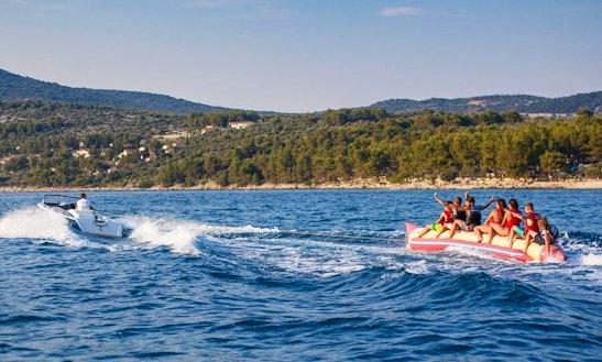 Enjoy Banana Boat Rides Cres, Croatia