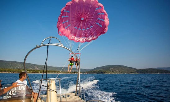 Enjoy Double Parasailing In Cres, Croatia