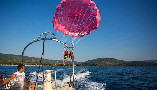 Enjoy Double Parasailing In Cres, Croatia
