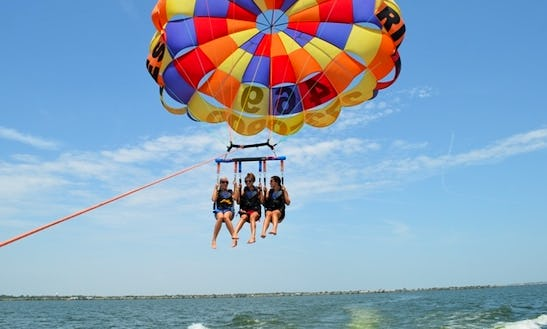 Enjoy Triple Parasailing In Cres, Croatia