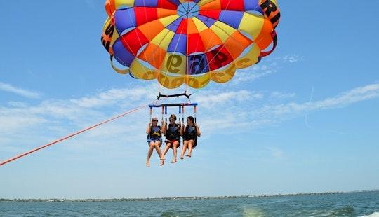 Enjoy Triple Parasailing In Cres, Croatia