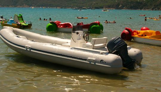 Rent Geb 10 Rigid Inflatable Boat In Lacona, Toscana, Italy