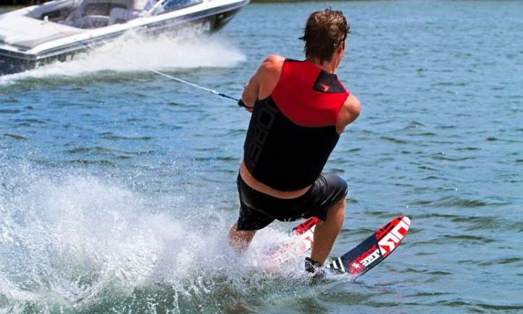 Water Skiing Lessons in Lacona, Toscana, Italy