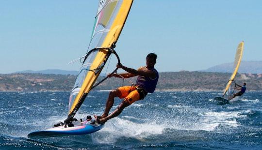 Kitesurfing In Lacona, Toscana, Italy