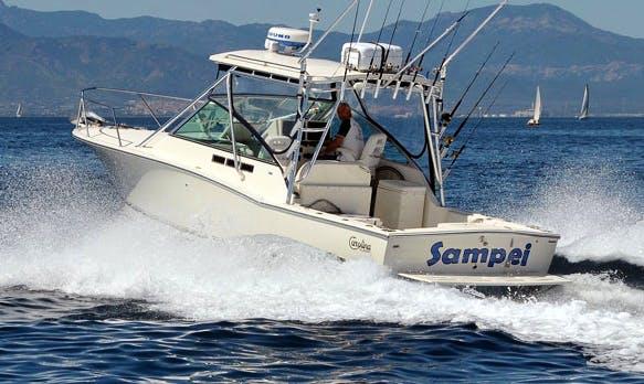 Enjoy Fishing in Cagliari, Italy on 28' Carolina Classic Sport Fisherman