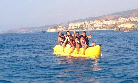 Enjoy Banana Boat Rides In Santa Domenica, Calabria