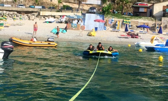 Enjoy Bumper Tube Rides In Santa Domenica, Calabria