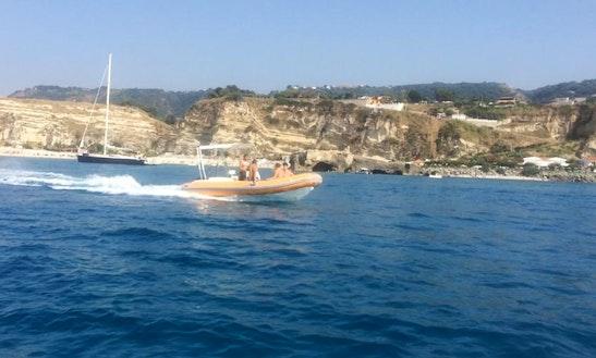 Rent Gommoni Rigid Inflatable Boat In Santa Domenica, Calabria
