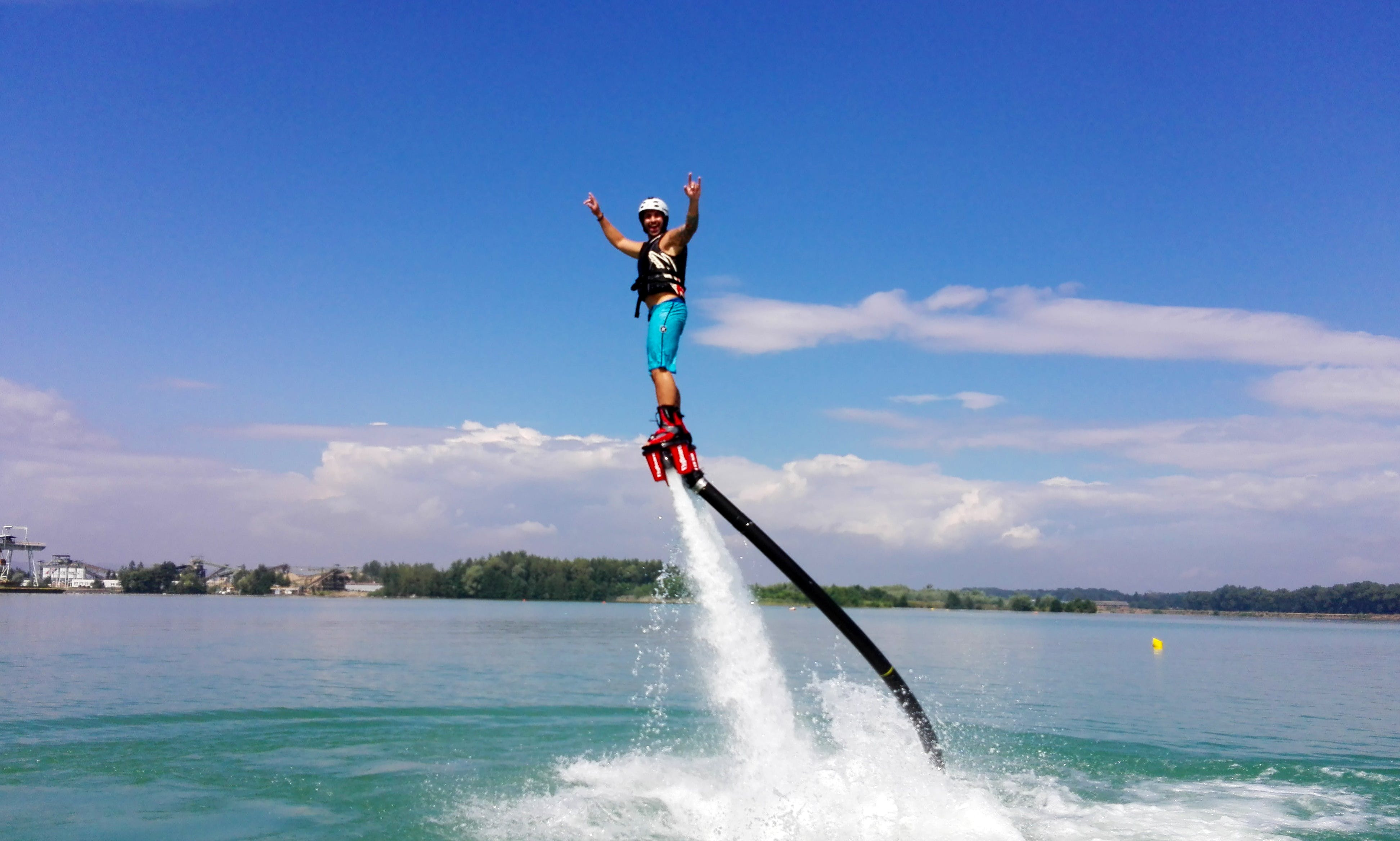 Enjoy Flyboarding In Prague, Czechia