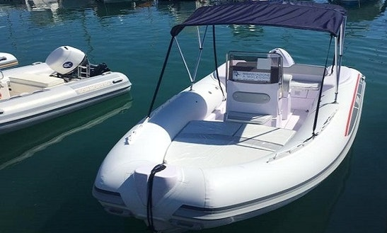 Rent 19' Gommone Selva Rigid Inflatable Boat In Carrara, Italy