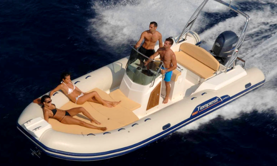 Rent 22' Tempest 690 Rigid Inflatable Boat In Colico Piano Lc, Italy