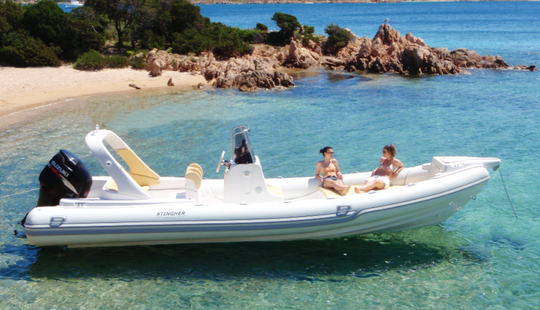 Charter 26' Stingher Rigid Inflatable Boat In Porto Cervo, Italy