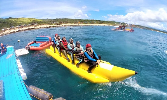 Enjoy Banana Boat Rides In Hengchun Township, Taiwan
