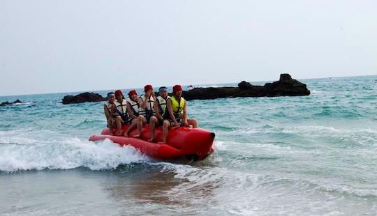 Enjoy Banana Boat Rides In Hengchun Township, Taiwan