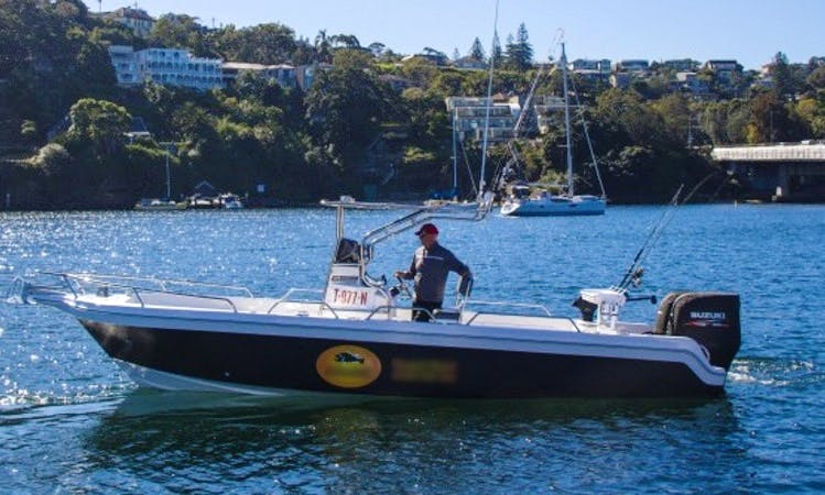Exciting Offshore Fishing in New South Wales onboard a Twin Suzuki Powered Fishing Boat