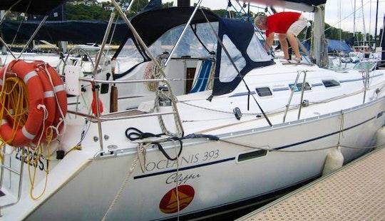 Day Sailing On Beneteau 39' Sailboat In Church Point, Australia