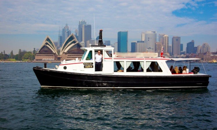 "Skippered Cruise on 33ft ""Macleay"" Timber Cruiser Yacht on Sydney Harbour"