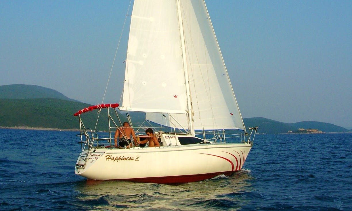 "Sailing Charter On 30ft ""S\Y Happiness 2"" Cruising Monohull In Herceg - Novi, Montenegro"