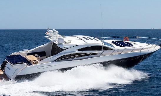 Charter 72' Sunseeker Predator Power Mega Yacht In Porto Cervo, Italy