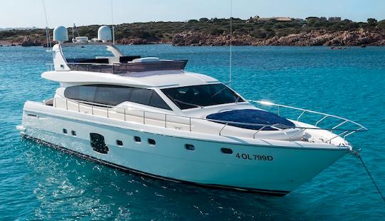 Charter 63' Feretti Power Mega Yacht In Porto Cervo, Italy