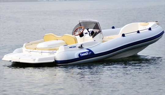 Rent 19' Marlin Efb Rigid Inflatable Boat In Paratico, Lombardia