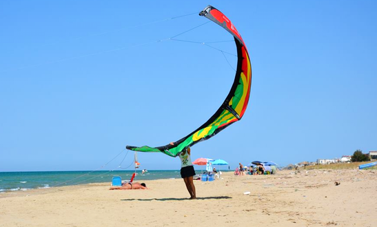Enjoy Kiteboarding In Torre Mileto, Italy