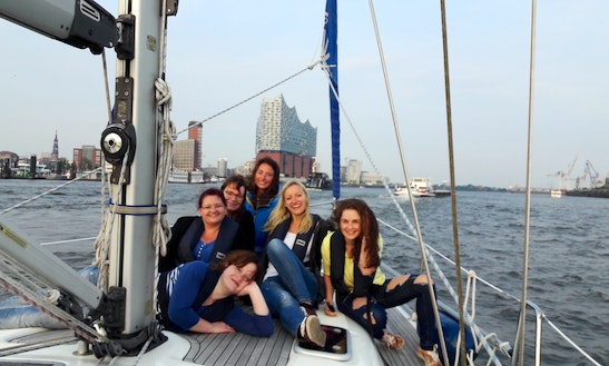 Sightsailing In The Port Of Hamburg