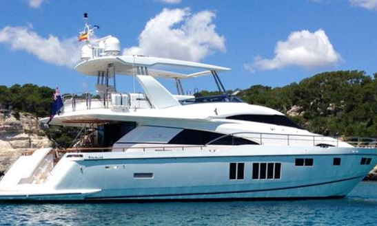 Charter 74' Fairline Squadrom Power Mega Yacht In Sorrento,italy