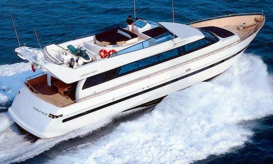 Charter 79' Power Mega Yacht In Cagliari, Sardegna, Italy