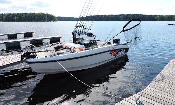 Enjoy Fishing On 19' Bella 600R Center Console In Tervo, Finland