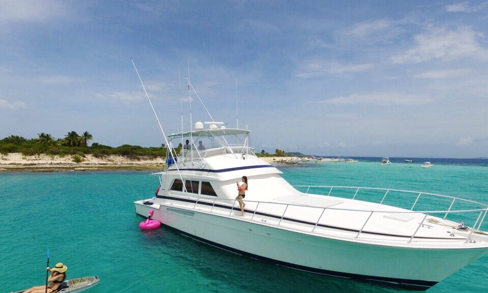 Beautiful 1999 Bertram 60′ Power Mega Yacht Rental In Fajardo, Puerto Rico