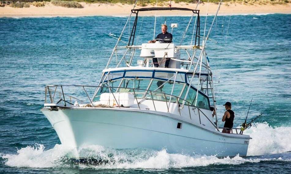 Enjoy Fishing in Victoria, Australia on 37' Sportfisher