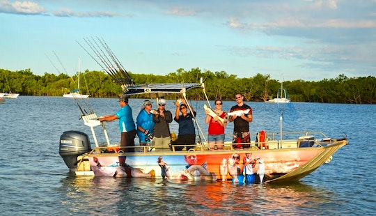 Enjoy Fishing In Darwin City, Northern Territory On Center Console