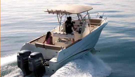 Hire A Twin-powered A Center Console For 9 Person In Menton, France