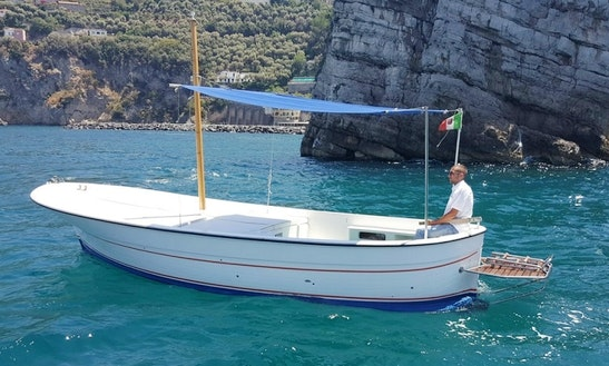 Charter 24' Gozzo Dinghy In Vico Equense, Italy