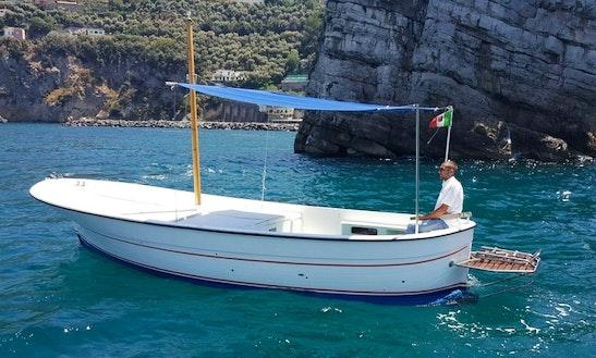 Charter 24' Gozzo Dinghy In Vico Equense, Italy