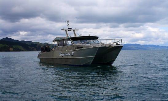 Enjoy Fishing In Te Kouma, New Zealand On 50' Power Catamaran