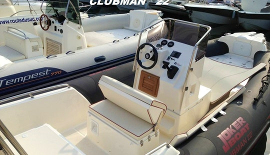 Rent 22' Clubman Rigid Inflatable Boat In Hyères, France