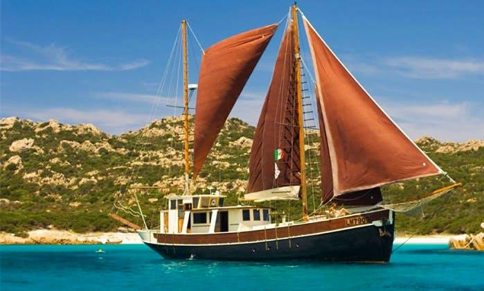 Charter 62' Veliero Pulcinella Schooner in Capo D'orso, Sardegna