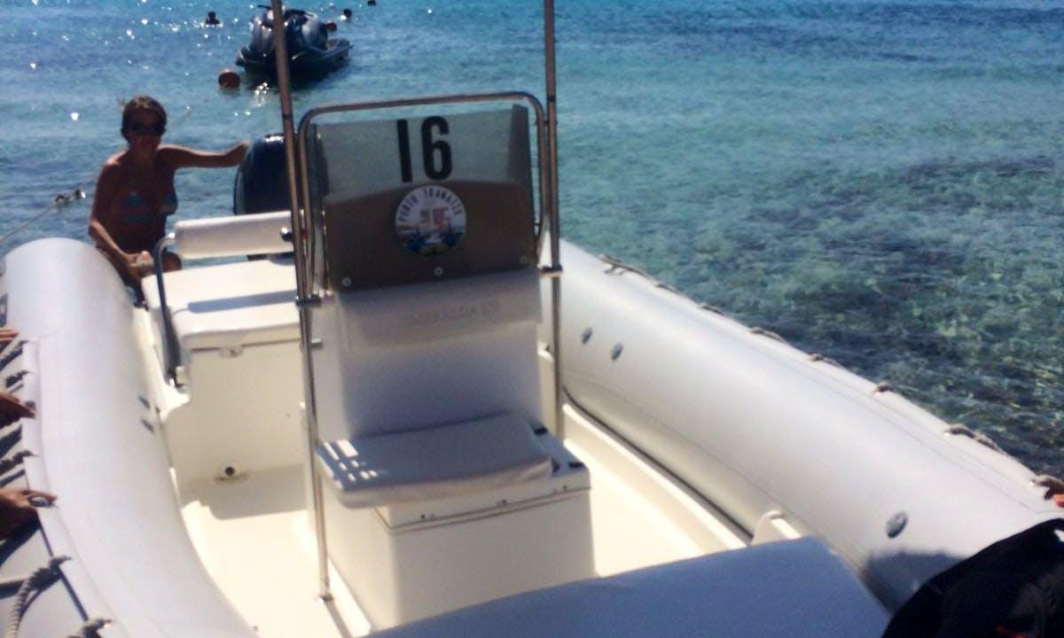 Rent 18' Smeralda Sea Water Rigid Inflatable Boat in Teulada, Sardegna