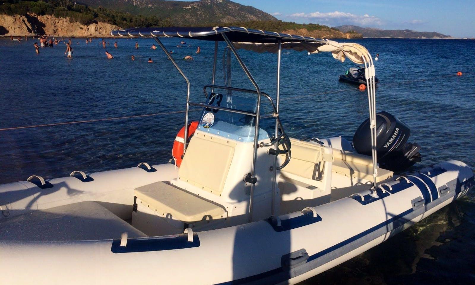 Rent 23' North Star Rigid Inflatable Boat in Teulada, Sardegna